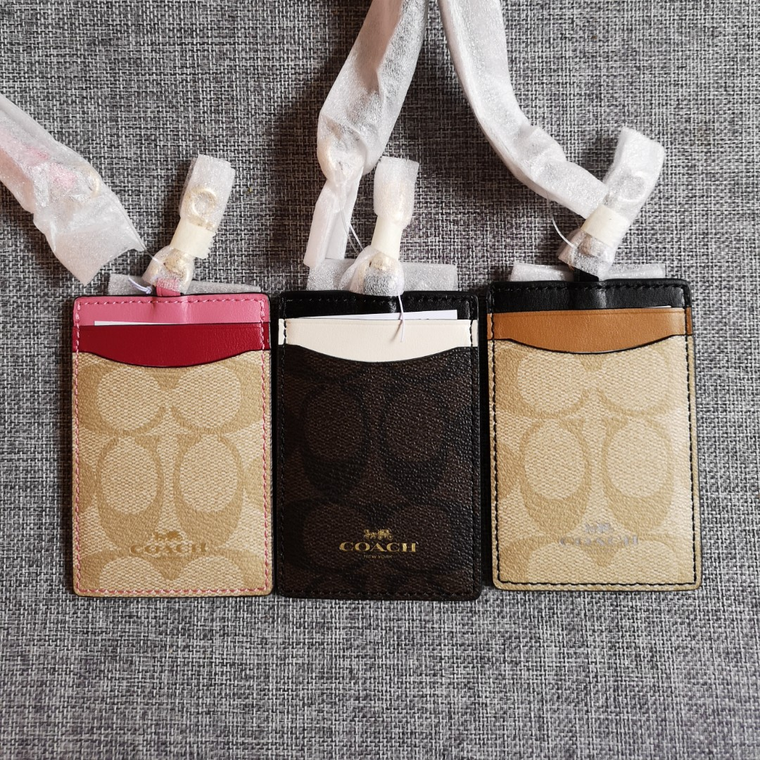 131e3f0dd06d BNWT Authentic Colorblock Coach ID Lanyard
