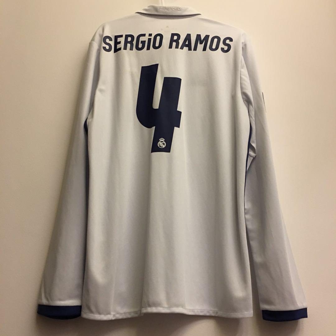 reputable site a697f aa713 BNWT] Real Madrid 2016/17 Home Long Sleeve Jersey with ...