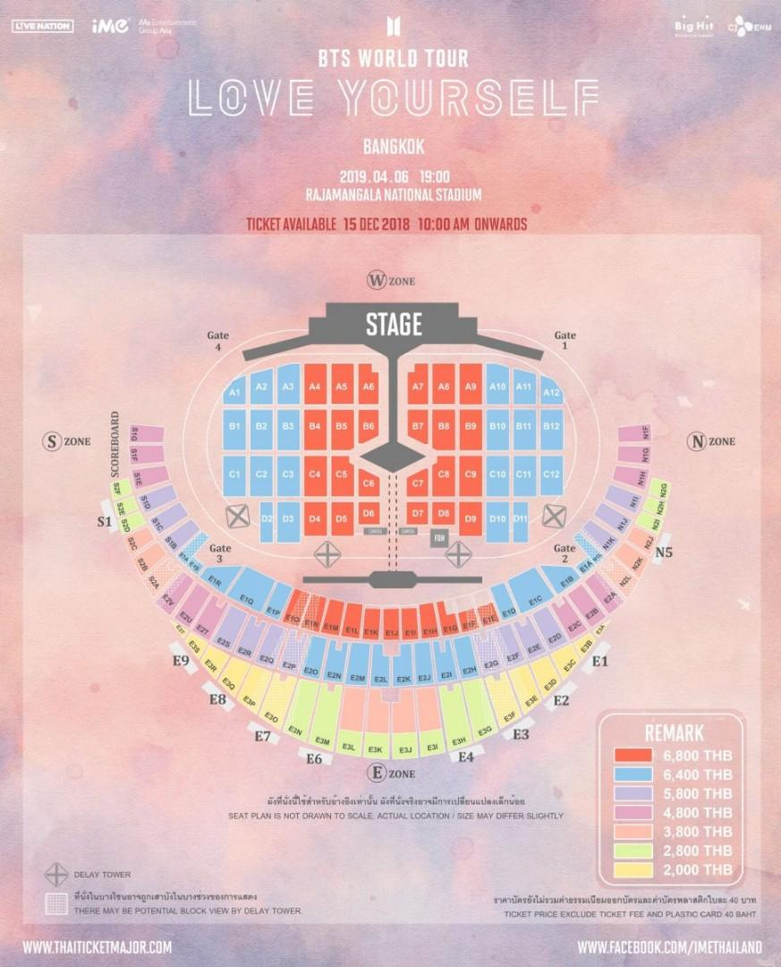 BTS CONCERT IN THAILAND TICKETS, Entertainment, Events