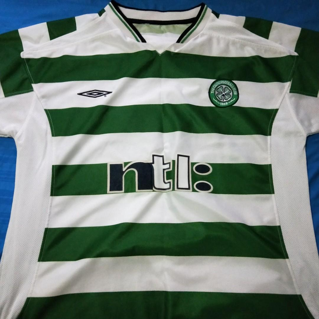 on sale 333ac 838aa Celtic FC Vintage Football Jersey, Men's Fashion, Clothes ...