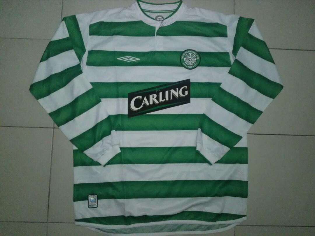 super cute d9138 56570 Celtic Umbro Longsleeve Jersey, Sports, Sports Apparel on ...
