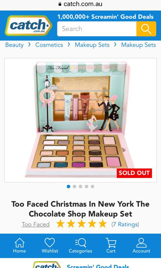 Christmas in New York Too Faced , The Chocolate Shop