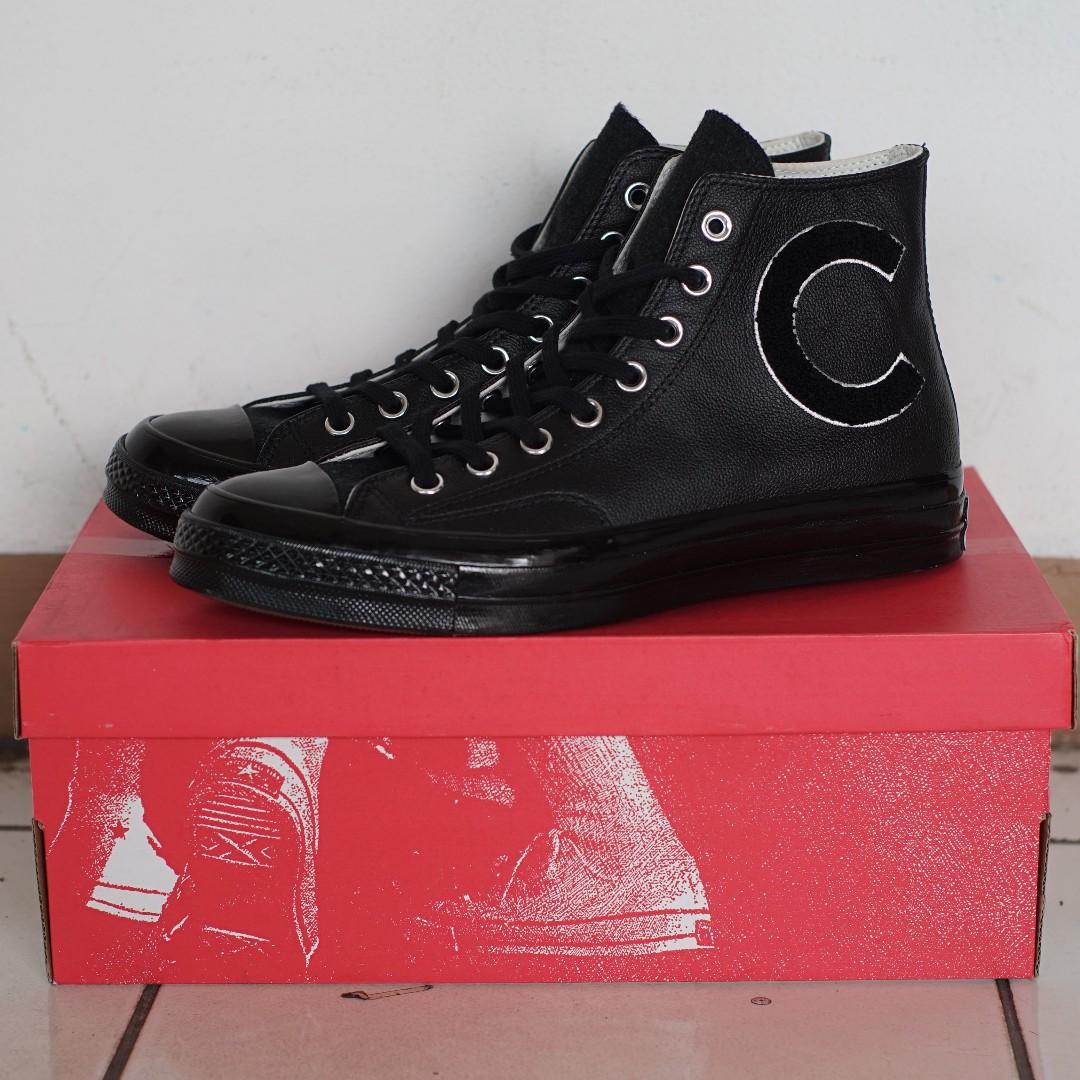 8bb4f927115 Converse Chuck Taylor 70s Wordmark Wool Leather Black
