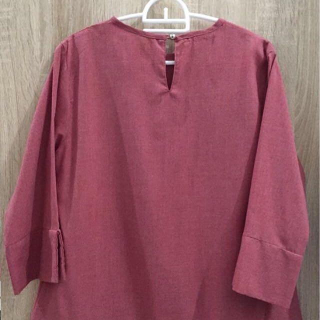 Dapet 3!!!Tunik skirt purple peach top