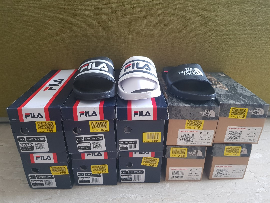 5772d0ee99 Fila and North Face Slides
