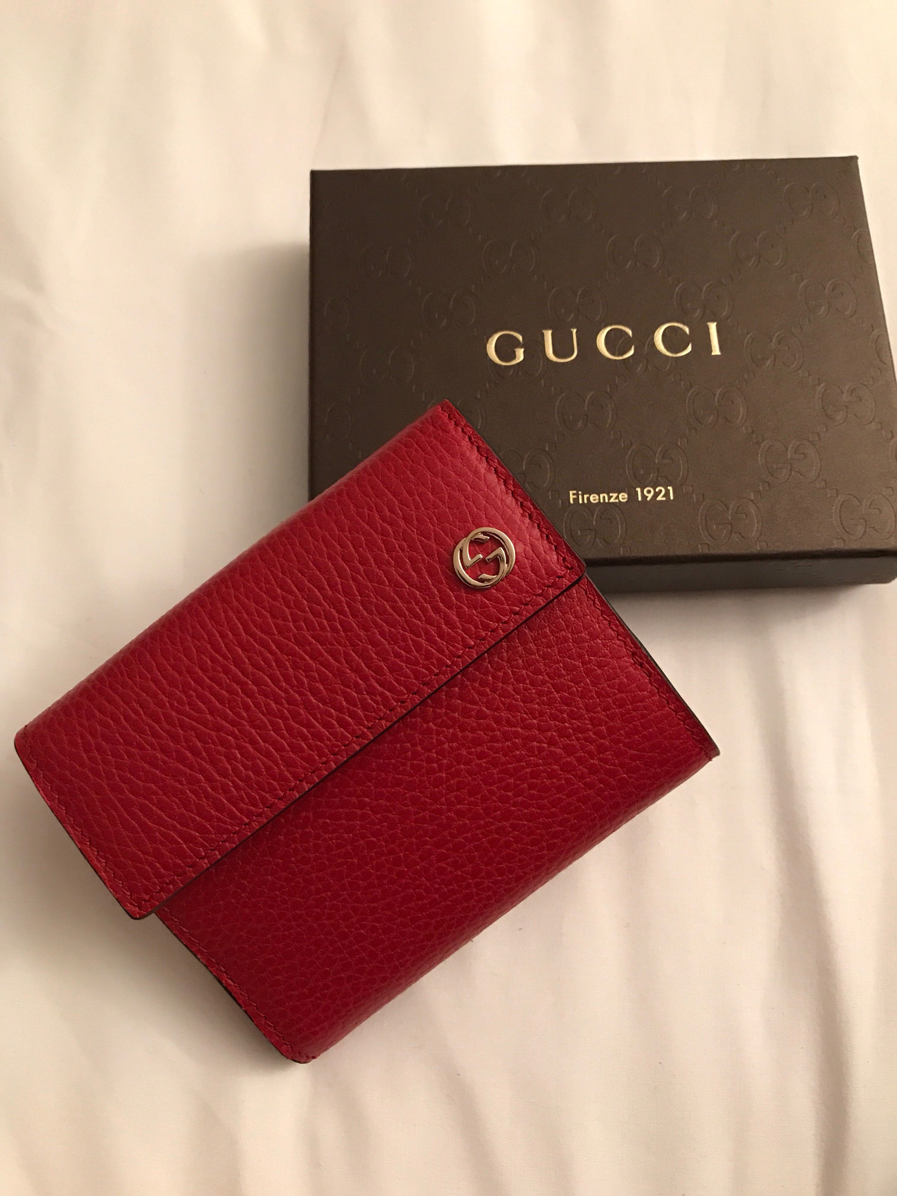 642a6cdf5728 Gucci Marmont Petite Textured-leather Wallet, Luxury, Bags & Wallets,  Wallets on Carousell