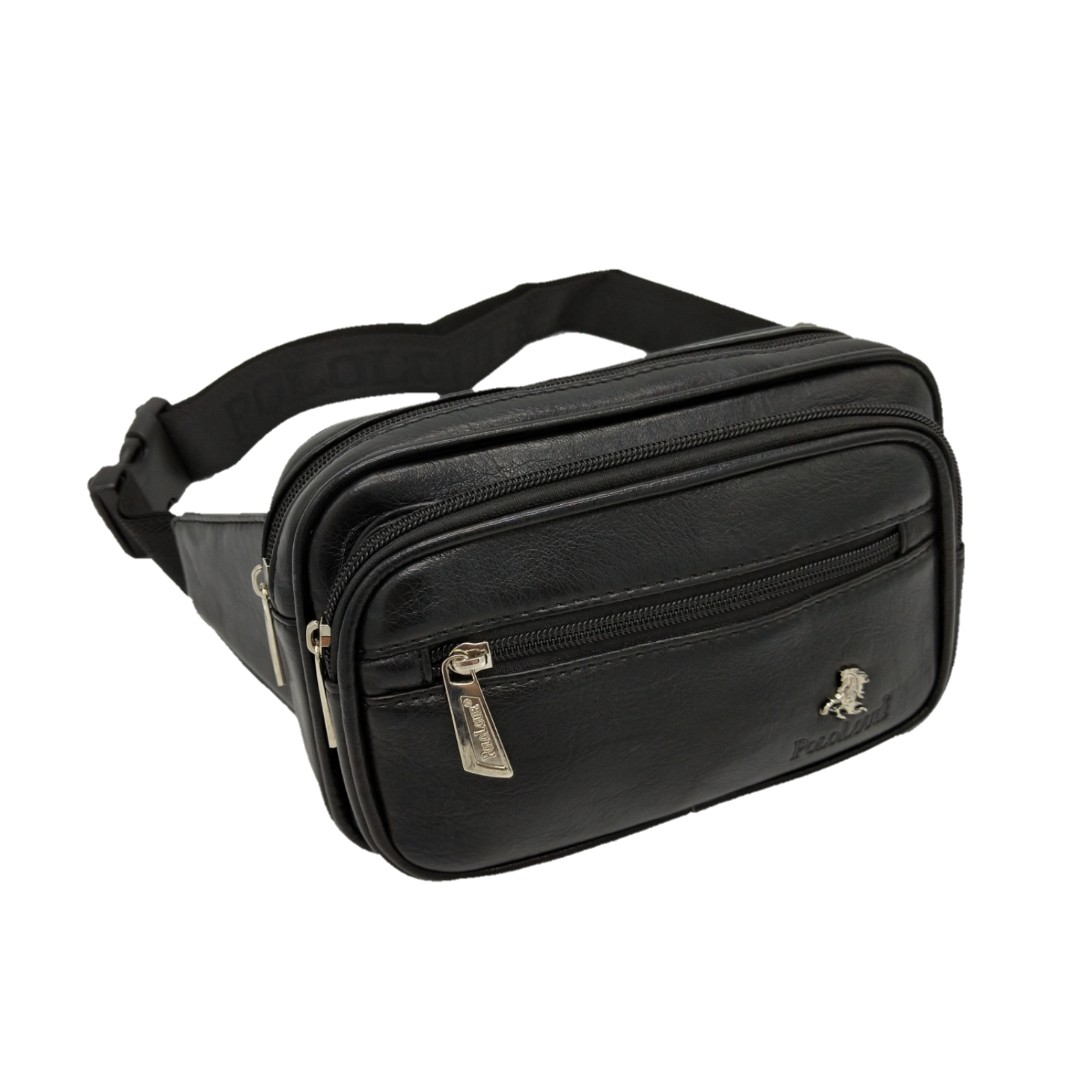 e799fbc70164 High Quality Polo Louie Men Genuine Leather Waist Pack Pouch Bag Chest  Sling Beg