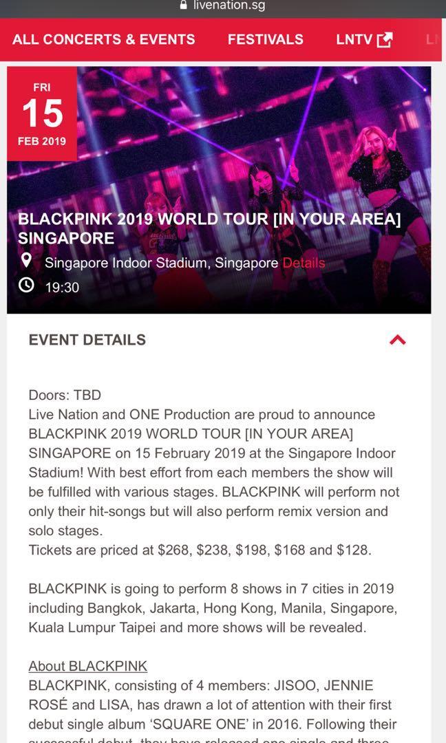 Htb Blackpink 2019 World Tour In Your Area Concert Entertainment