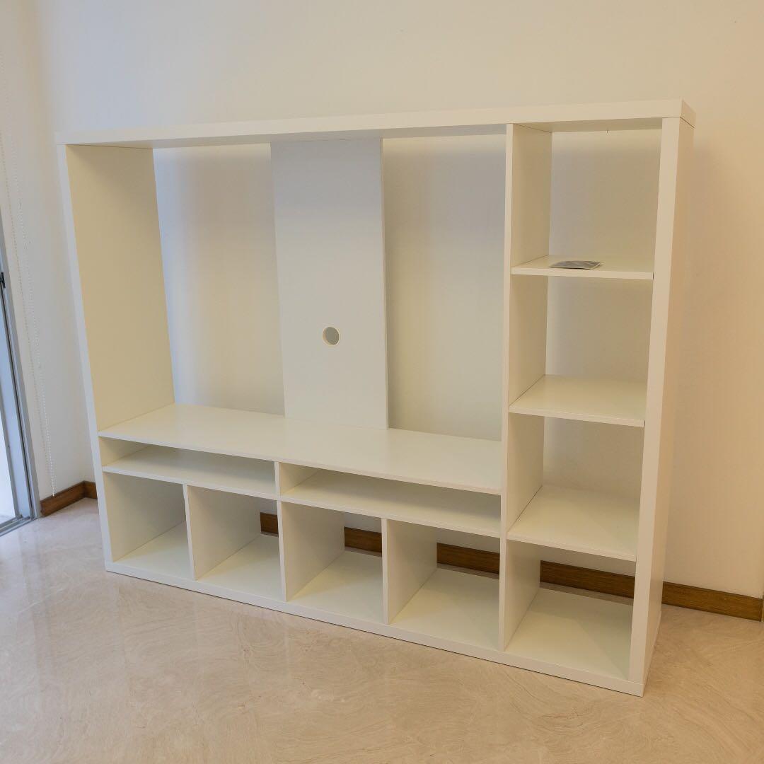 Ikea Lappland Tv Console Storage Unit White Furniture Shelves