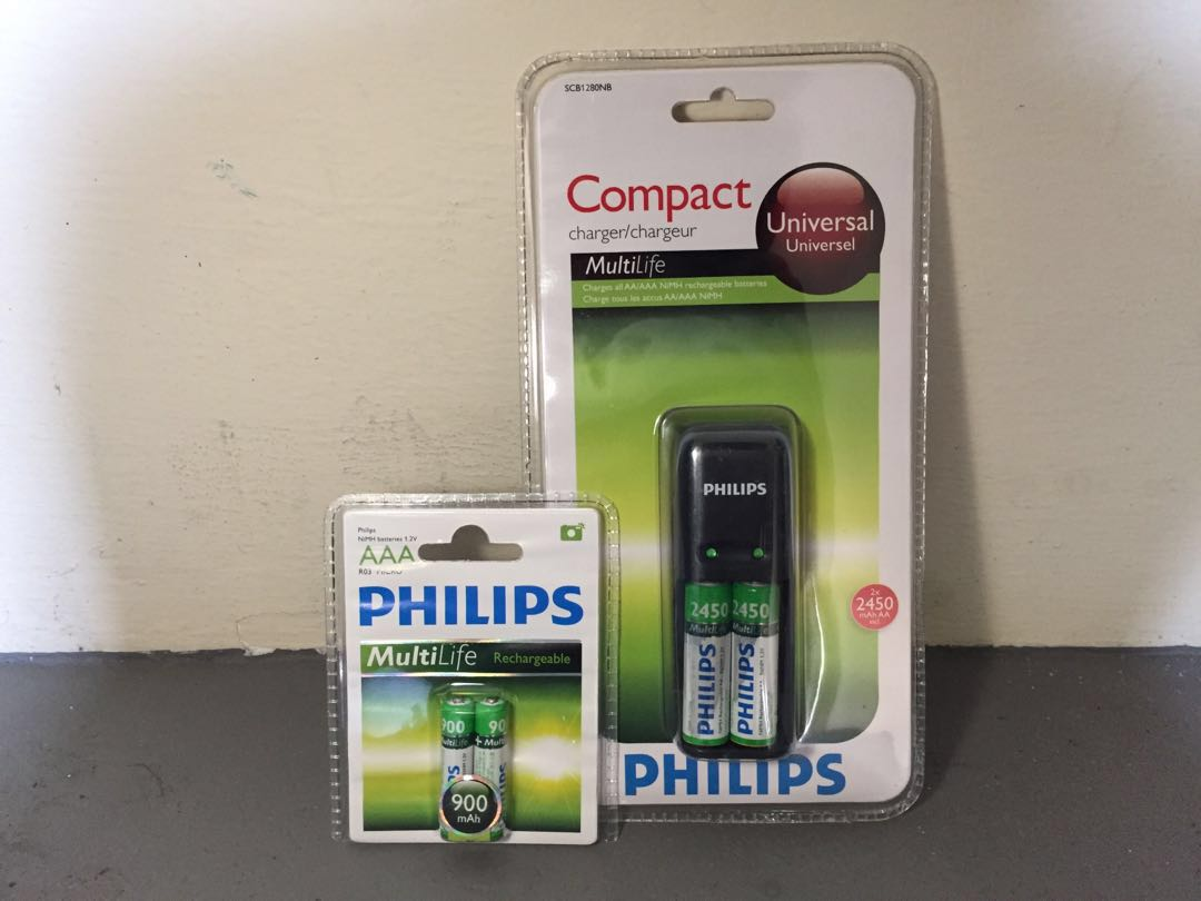 🔋*in stocks*Rechargeable Ni-MH Philips Battery Charger🐠