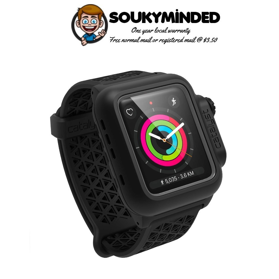 new styles a3ff5 e974f [IN-STOCK] Catalyst Waterproof Apple Watch Case 42mm Series 2 & 3 with  Premium Soft Silicone Apple Watch Band, Shock Proof Impact Resistant  [Rugged ...