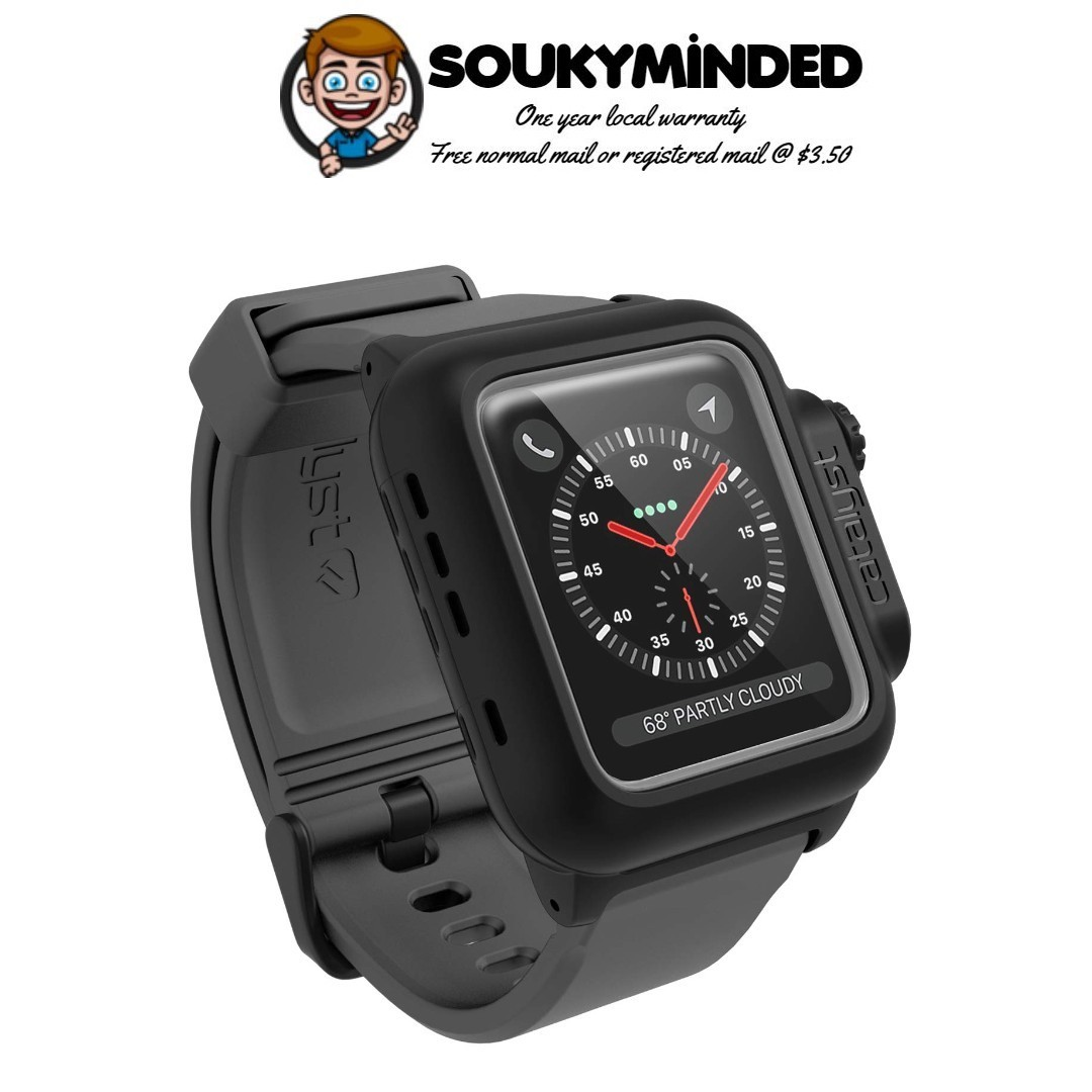 info for a9830 0e459 [IN-STOCK] Waterproof Apple Watch Case 42mm Series 2 & 3 with Premium Soft  Silicone Apple Watch Band by Catalyst, Shock Proof Impact Resistant [Rugged  ...