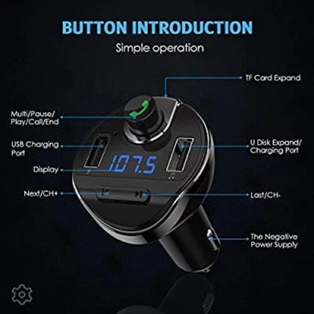 b3f00904ef0 J113) Criacr Bluetooth FM Transmitter