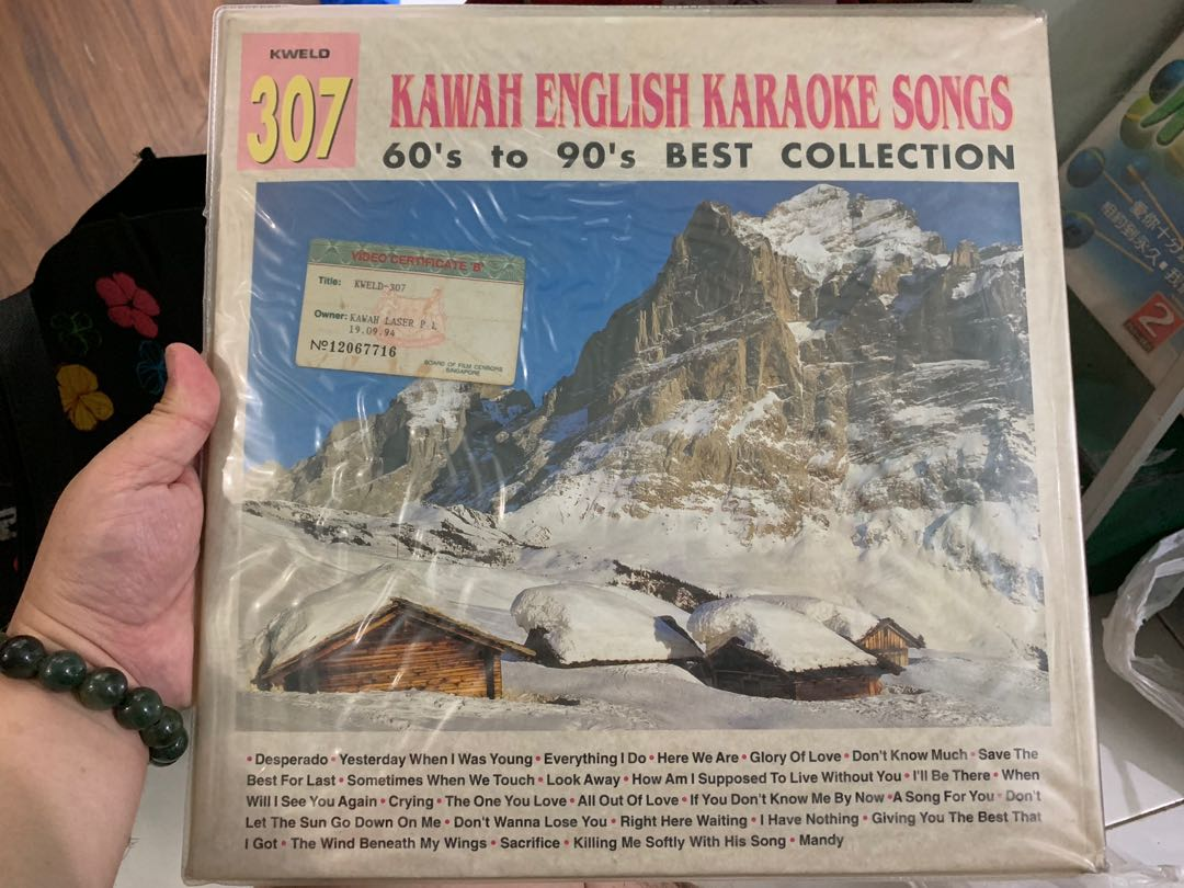 Kawah English Karaoke Songs 60s to 90's best collection- laserdisc  collectibles