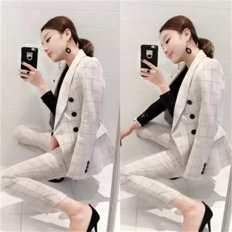 3258989294f Korean style women s suit