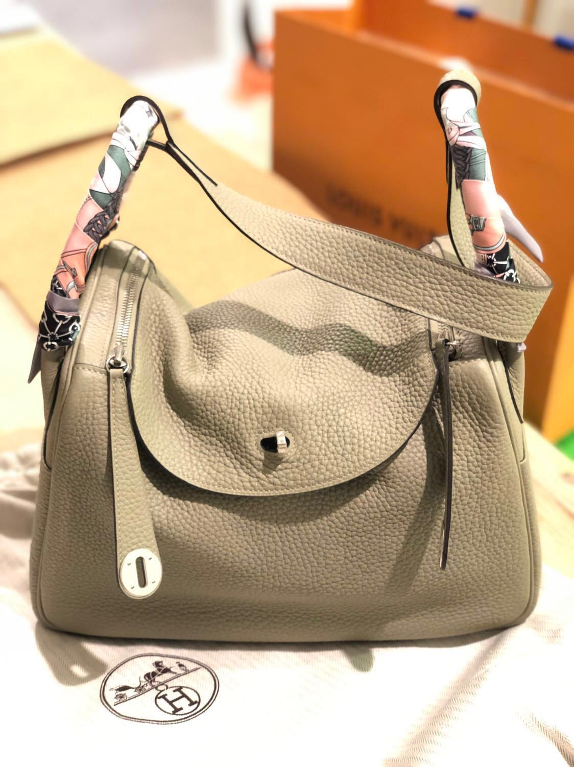 14172a505c0d Like New Hermes Lindy 30 Sage Clemence PHW Stamp T  Priced to sell ...