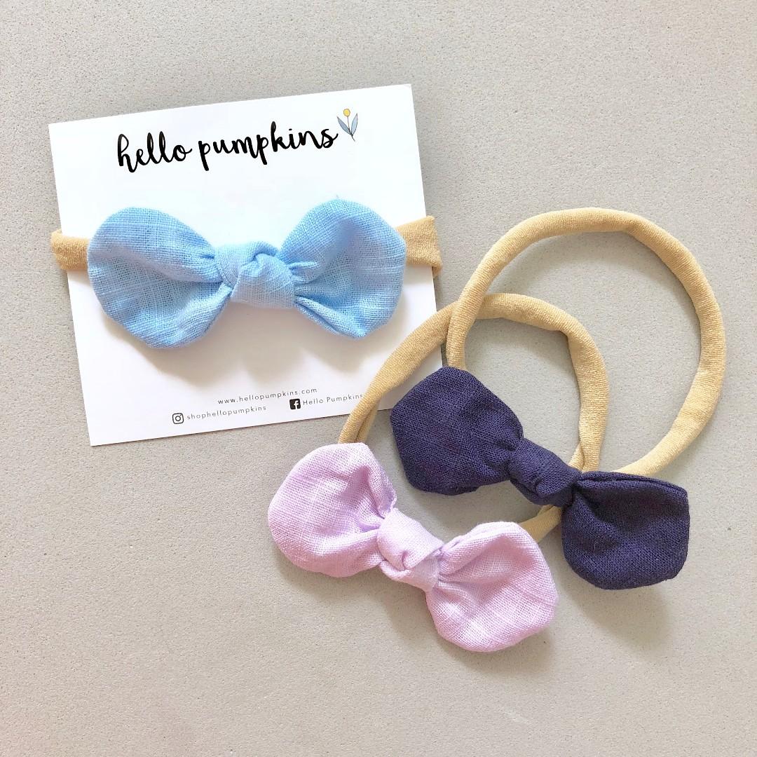 dfd17d514 Little Mousey Bow Headband Set - Night   Baby headband   Baby Girl ...