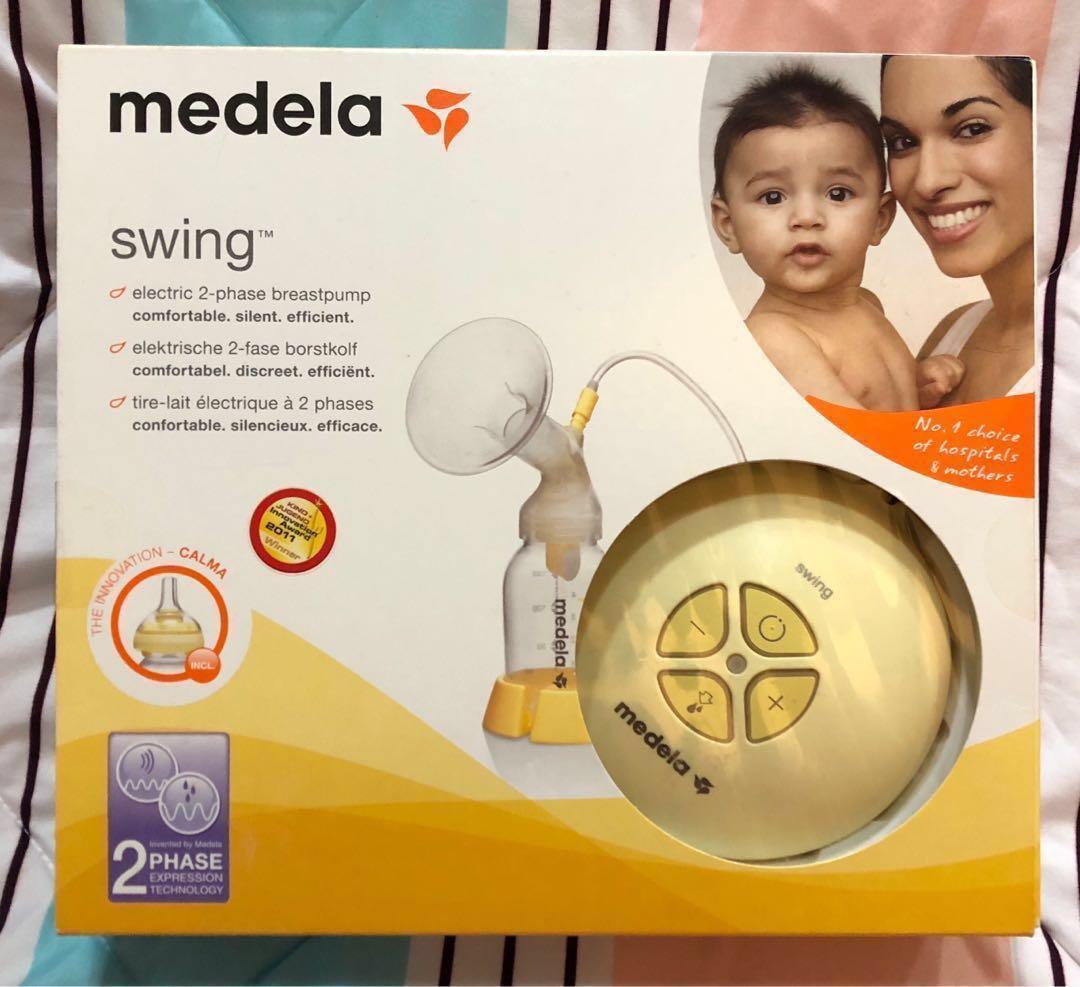 Medela Swing Electric Breast Pump With Calma Babies Kids