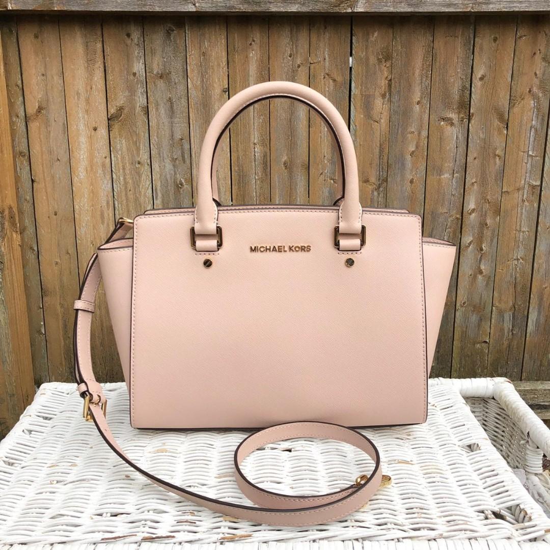 7f2babfa92496b Michael Kors Selma Medium TZ Satchel in Soft Pink, Women's Fashion ...