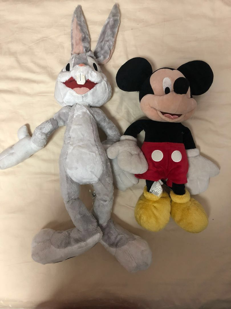Mickey Mouse Bugs Bunny And Eeyore Stuffed Toy Plush Toys