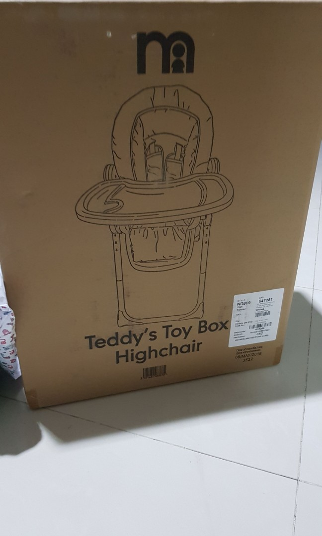 c26aec8a04c Baru New (BNIB) high chair Mothercare teddy toy box kursi tinggi ...