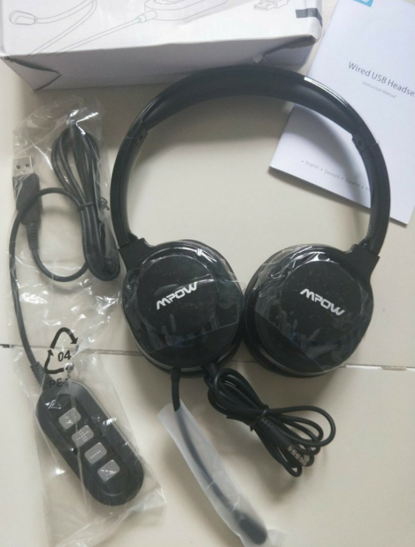8aed8671fa0 Mpow usb headset, Electronics, Others on Carousell