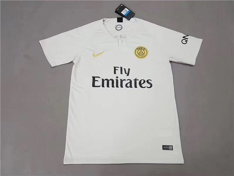 b1c2feeb2ac Paris Saint Germain PSG Jersey White Away Kit 2018 2019 (S