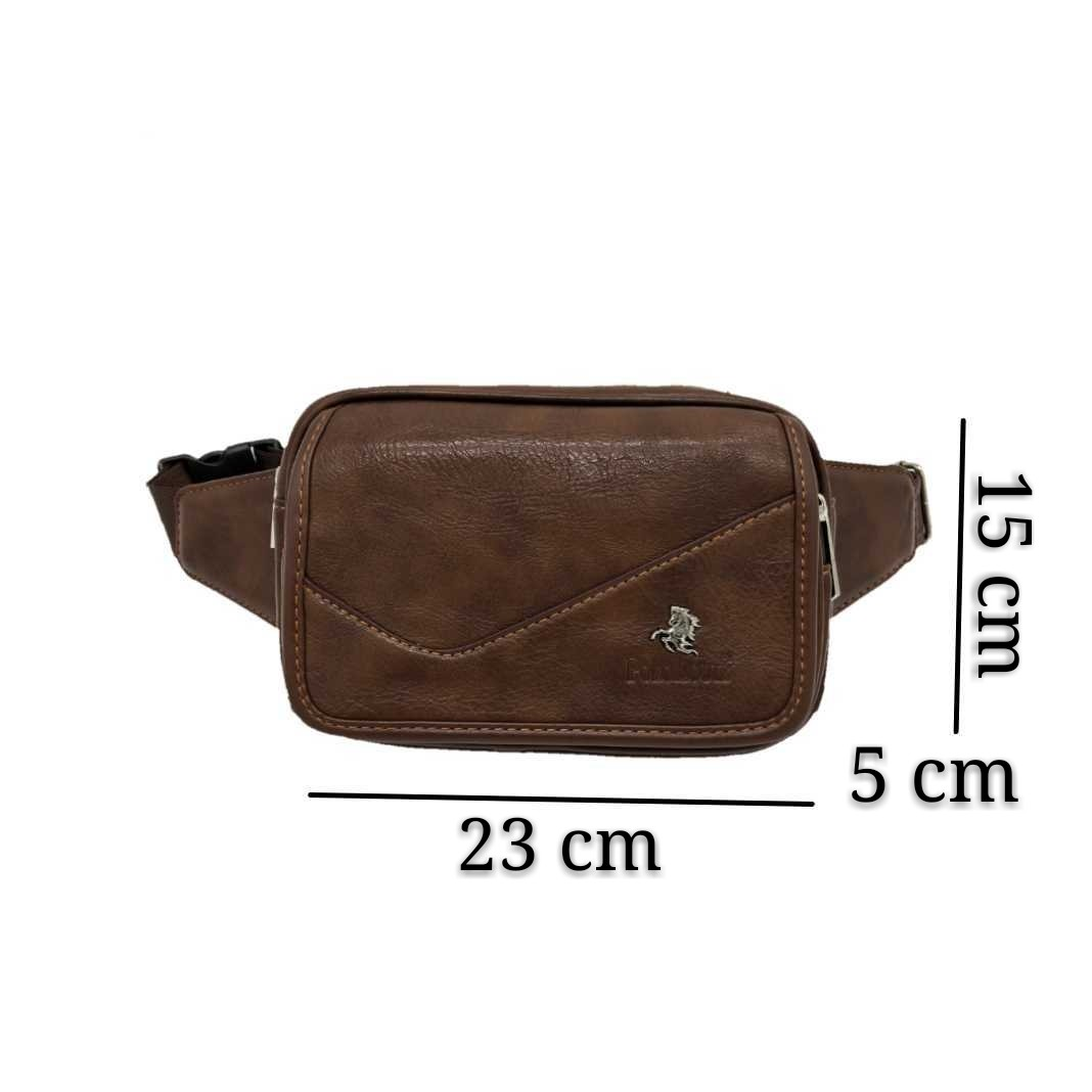 6c14cc3e1851 POLO LOUIE Men Waist Bag Genuine Leather Sling Chest Pouch Beg Crossbody Bag