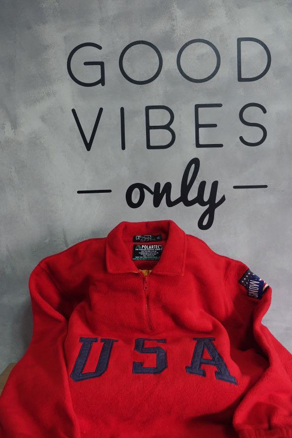 63fe6cb46198 Polo Ralph Lauren USA Flag Red Fleece Pullover