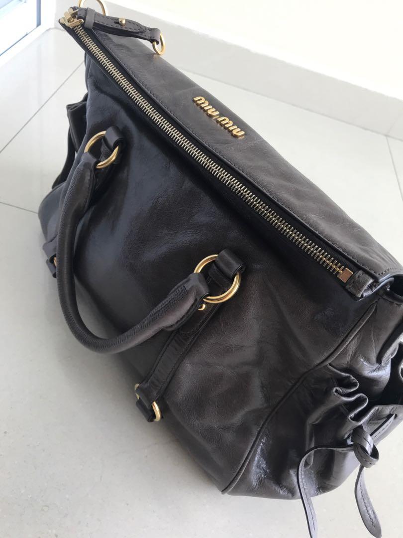 0c4953ee3af2 Preloved Gently used Vitello Shine MiuMiu bag