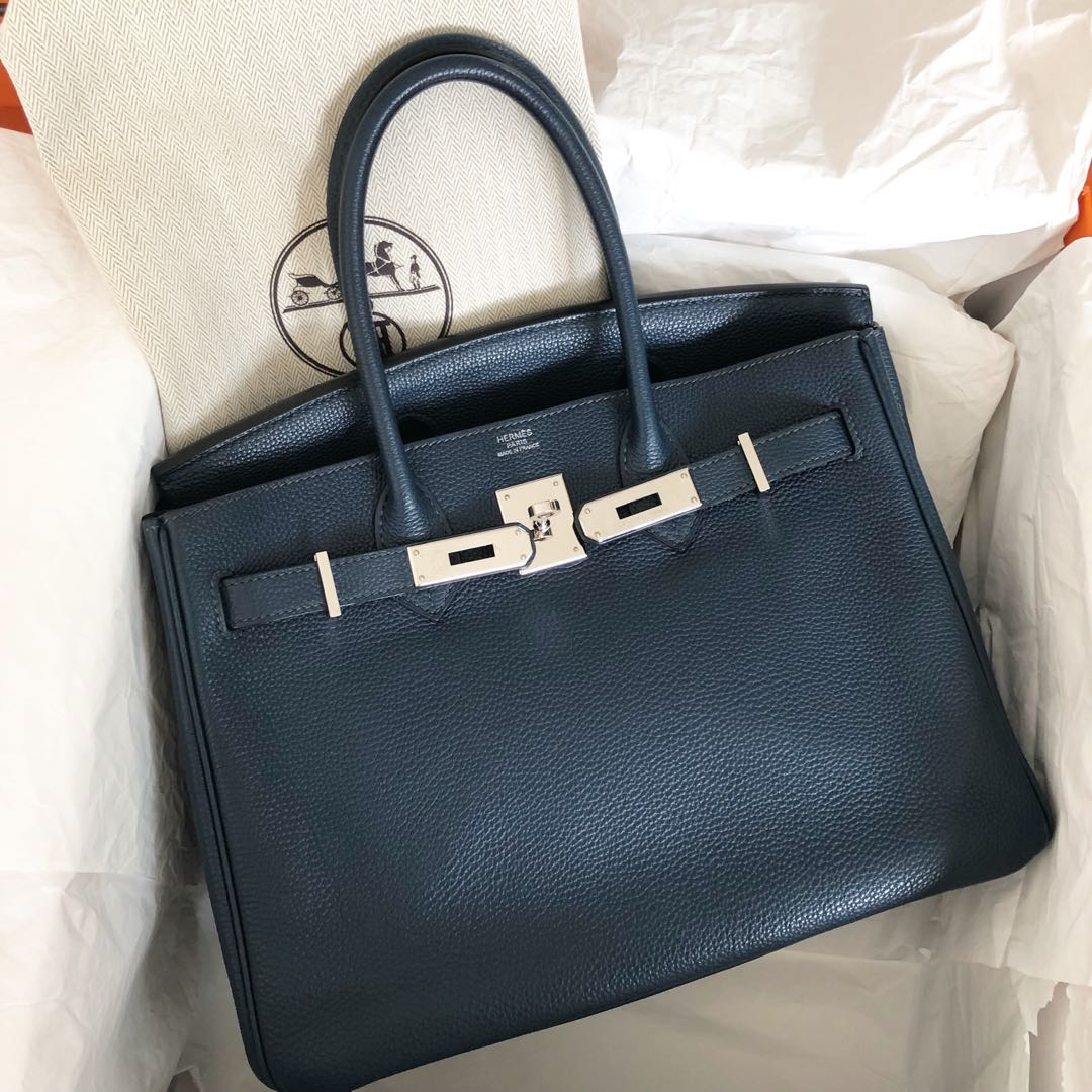 Preloved Hermes Birkin 30 Blue de Prusse Togo Phw L stamp, Luxury ... 9709d72851