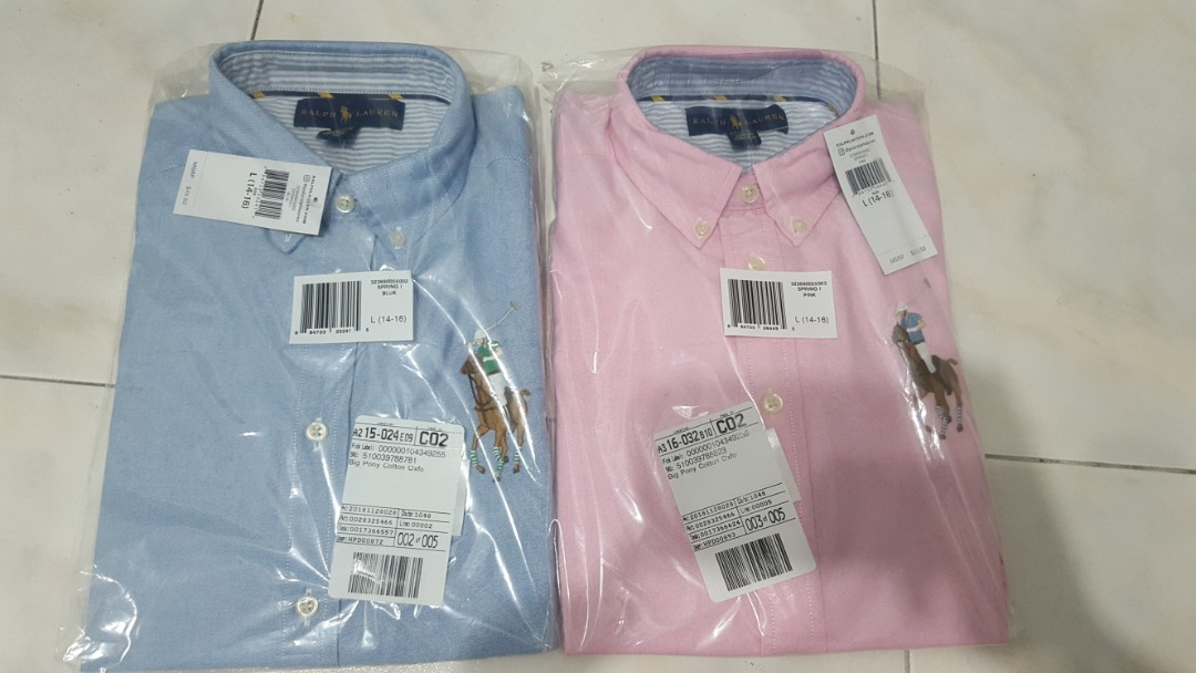 37dc56fd Ralph Lauren Big Pony Cotton Oxford Shirt (Long Sleeve), Men's ...