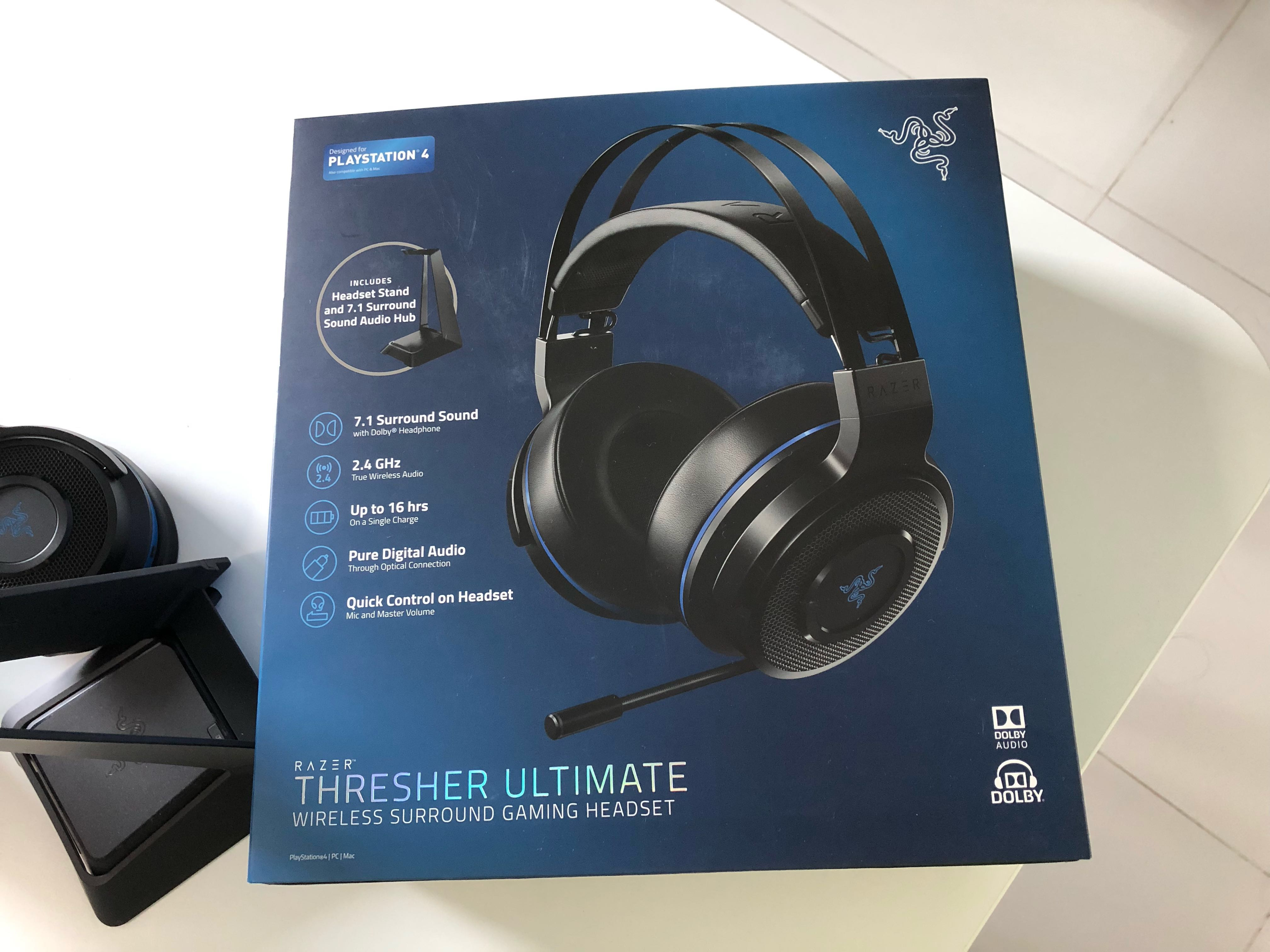 e9e142c9198 Razer Thresher Ultimate Wireless Surround Gaming Headset for PS4,  Electronics, Audio on Carousell