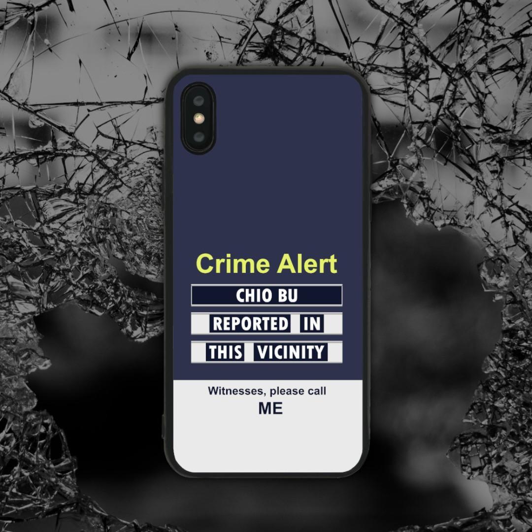 Ready Stock] Crime Alert Chio Bu Phone Case, Mobile Phones