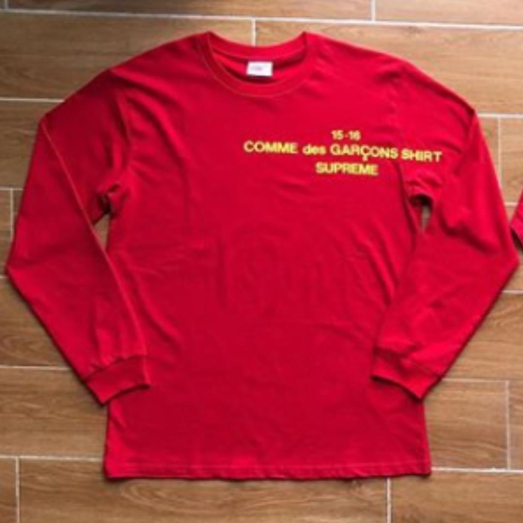 e8b17e71964f RED CDG (COMME DES GARCONS) 15-16 LONG SLEEVE SHIRT SUPREME, Men's ...