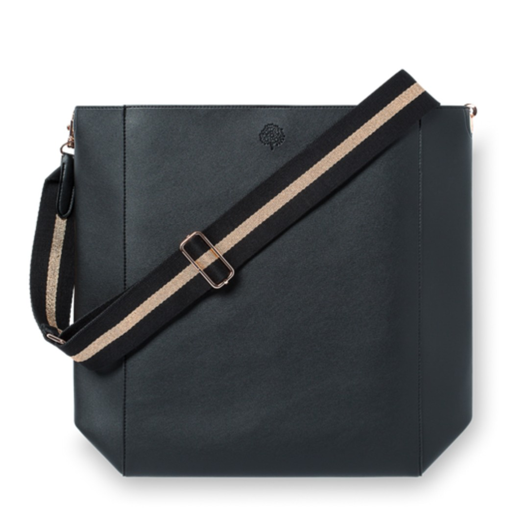 f9e537eb4395 ROSE GOLD & BLACK VEGAN LEATHER TOTE - CRABTREE&EVELYN, Women's ...