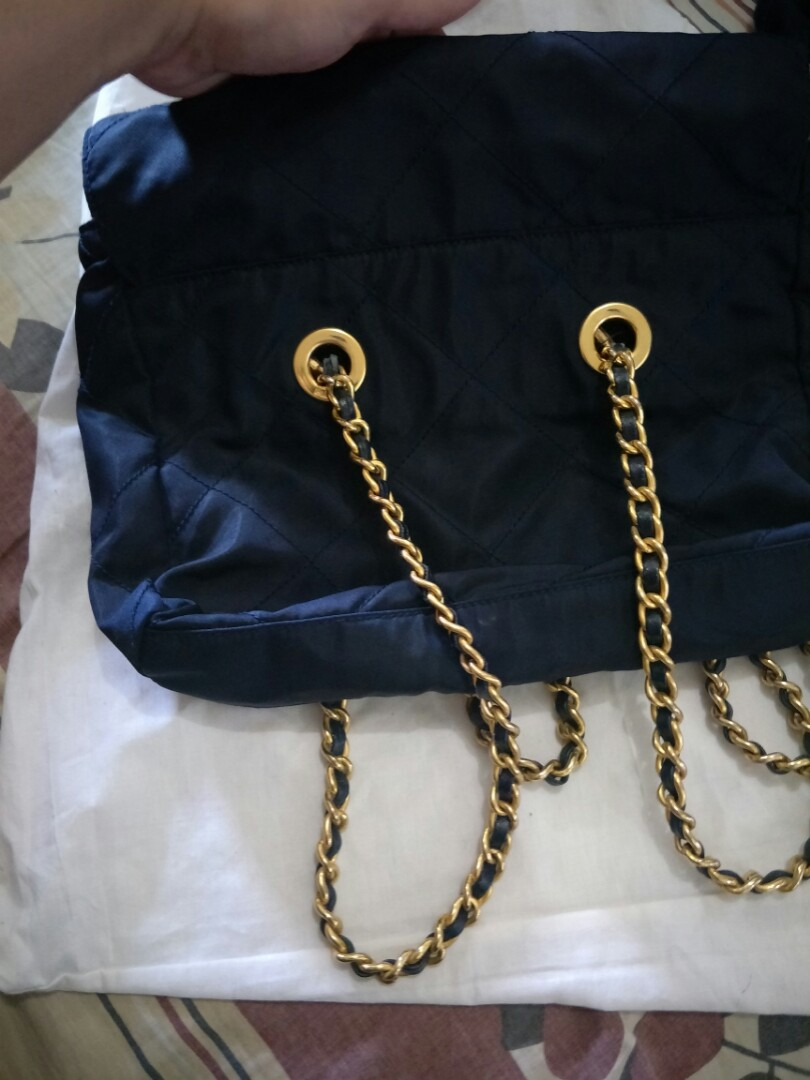 652ae1379a14 repriced!!! authentic prada vintage nylon tessuto golden chain bag, Luxury,  Bags & Wallets on Carousell