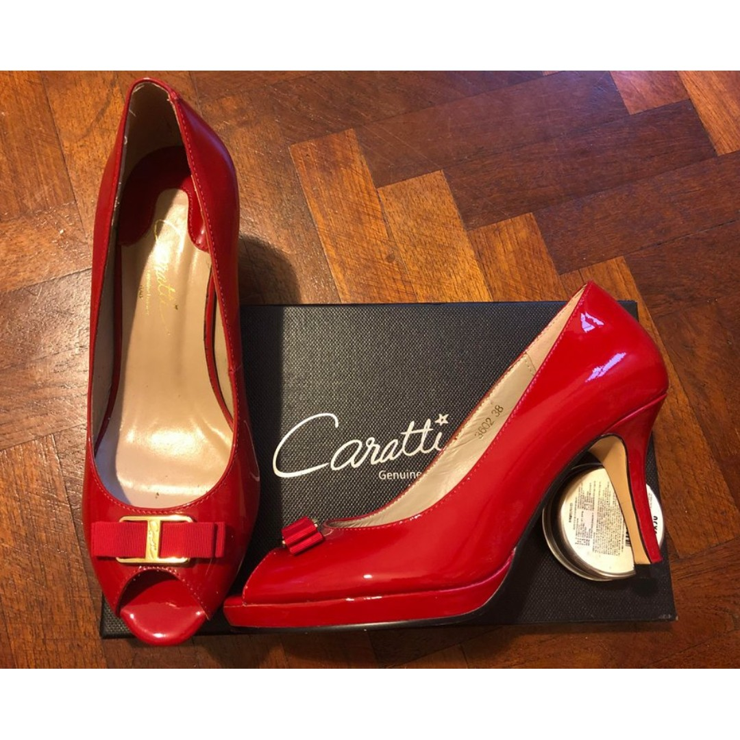 64330a3e4ea5 Sexy Red Italian Hand Made Leather Elegant Heels - Caratti