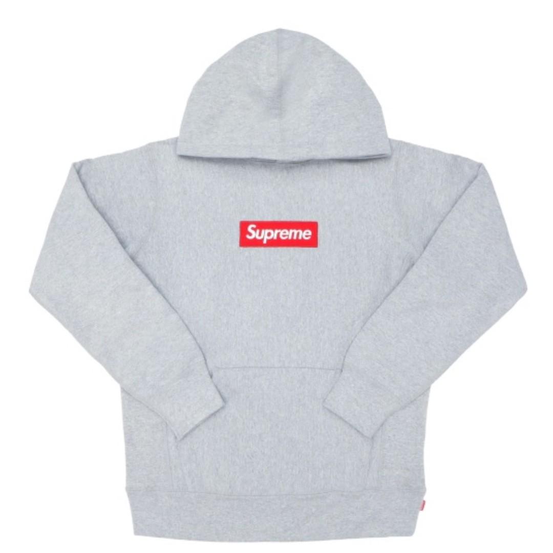 8d4742663a34 Supreme box logo hoodie heather grey