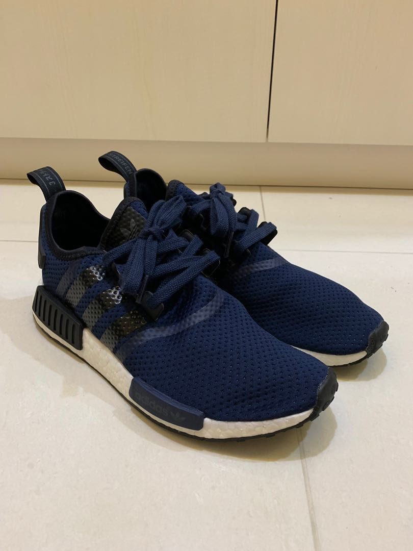 newest collection 96556 90e48 US9 Adidas NMD R1 JD Sports Navy Mesh, Men's Fashion, Footwear ...