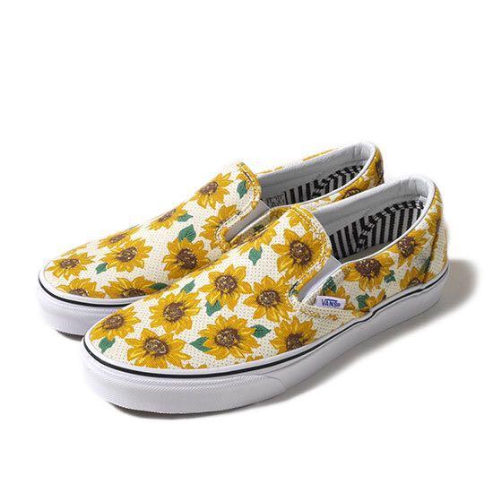VANS Sunflower Slip-on, Women's Fashion