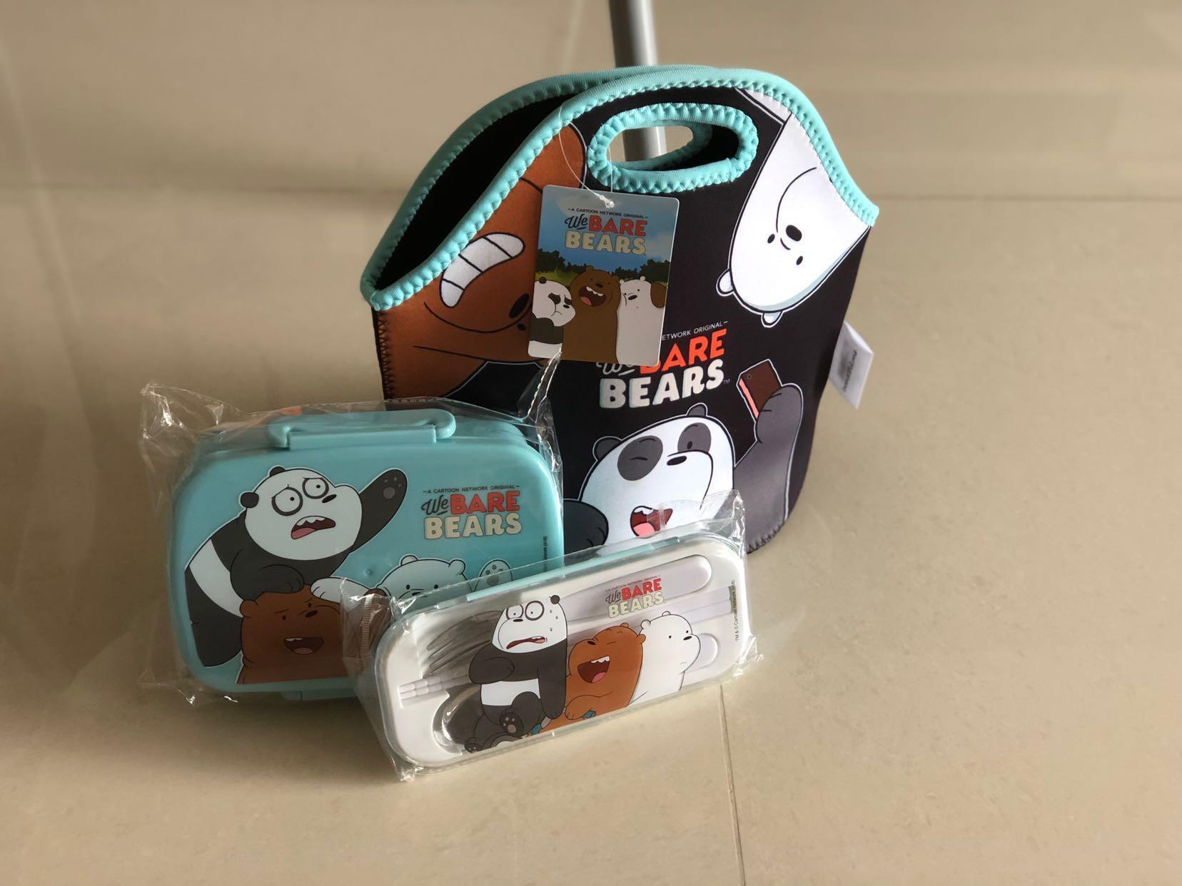 We Bare Bears Ice Bear lunch box set, Babies & Kids, Nursing