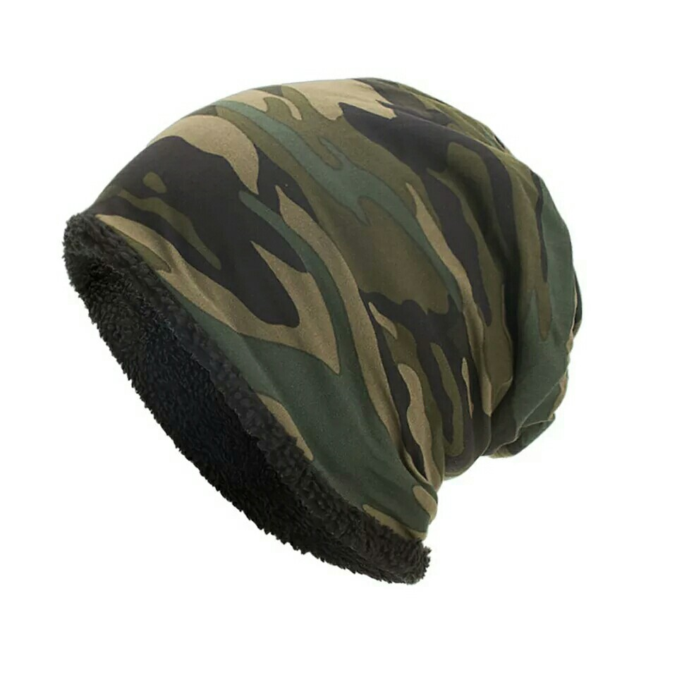 83f111afa6bd6 winter Warm Baggy Camouflage Hat Crochet Winter Wool Ski Beanie ...