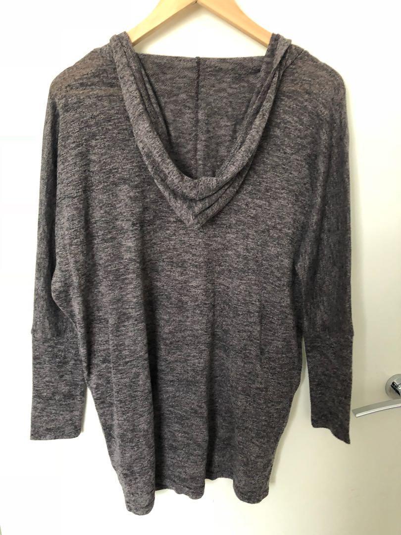 Women's hooded jumper / dark grey (Valleygirl - size S)