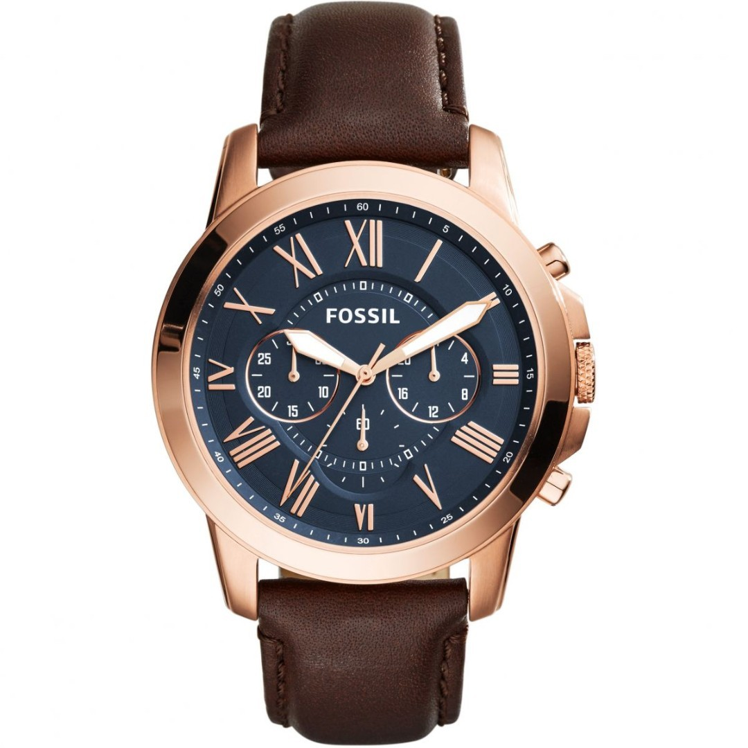 9aa0f9dba8714 👉YEAR END SALE👈Fossil Grant Chronograph Brown Leather Watch