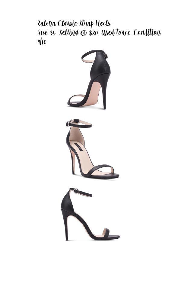 132844ce59d Zalora Classic Ankle Strap Heels