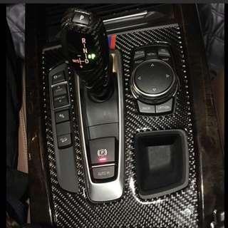 🚚 BMW X5 X6 專用 排檔面板 碳纖貼 F15 F16 13-18年 沂軒精品 A0482