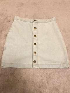 American Apparel washed denim A line skirt