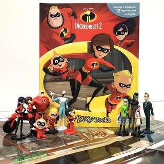 BN: Disney The Incredibles 2 My Busy Books including 12 Figurines and Playmat