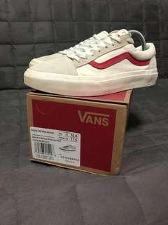 💯Authentic Style 36 Marshmallow/Racing red Vans